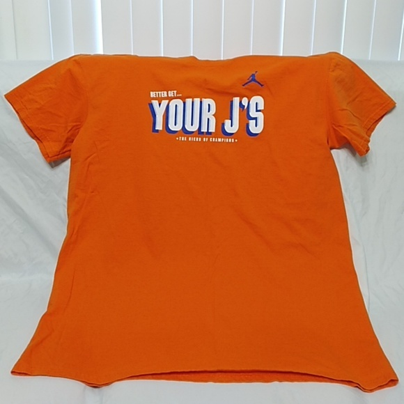 e919bbba0fdc Jordan Other - Air Jordan Men s Orange T-Shirt ...
